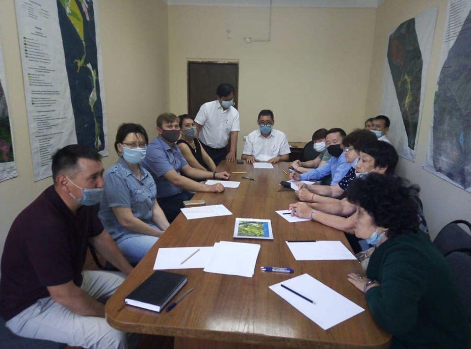 Научно-теxнический совет с участием сотрудников Института Зоологии.
